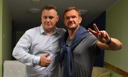 Cezary Pazura i Stanisław Wójcik