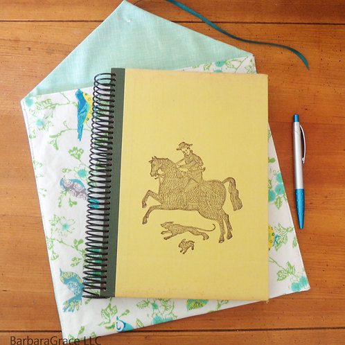 Crewel Embroidery Book Journal w/ Sleeve