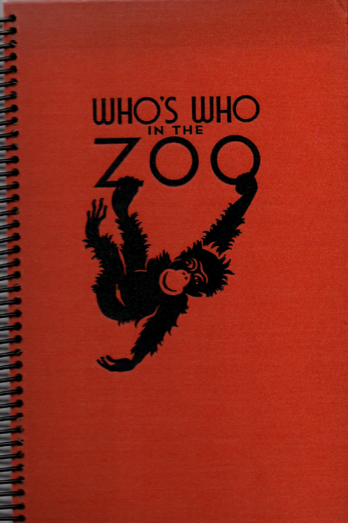 Who's Who in the Zoo Book Journal