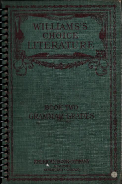 William's Choice Literature Pocket Book Journal