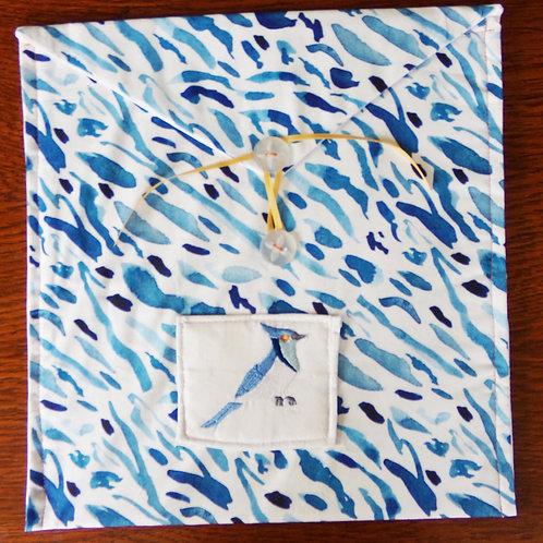 Blue Bird Fabric Journal Sleeve