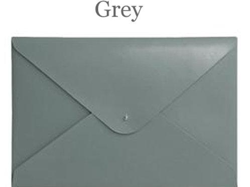 Grey Leather File Folder