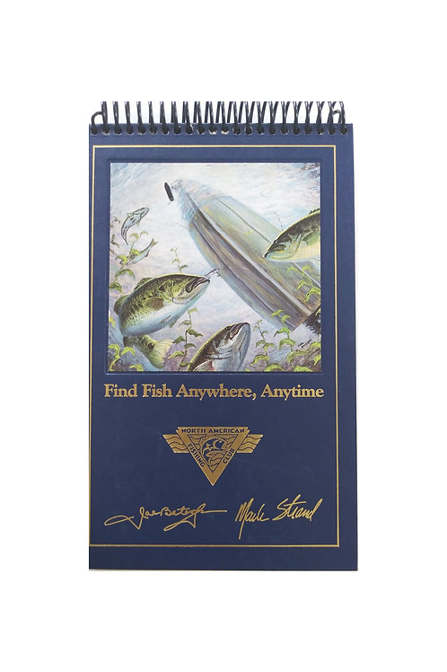 Find Fish Anywhere, Anytime -Steno Pad Journal