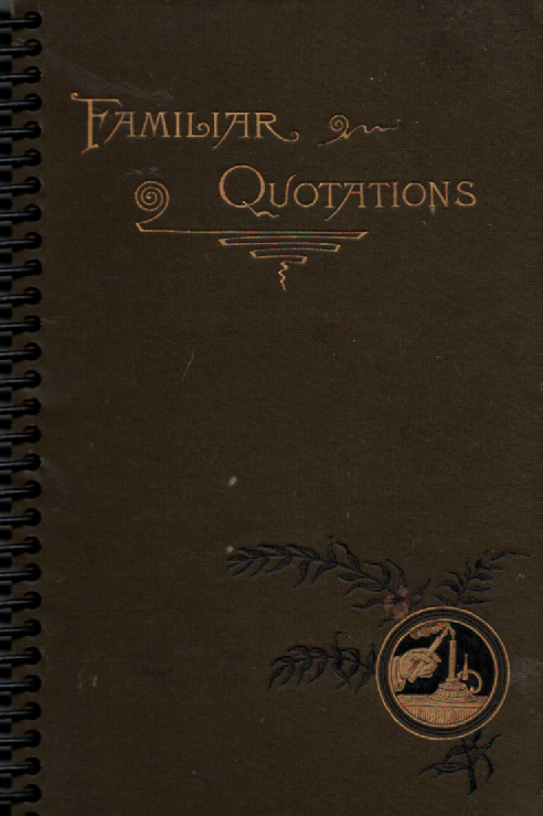 Familiar Quotations Pocket Book Journal