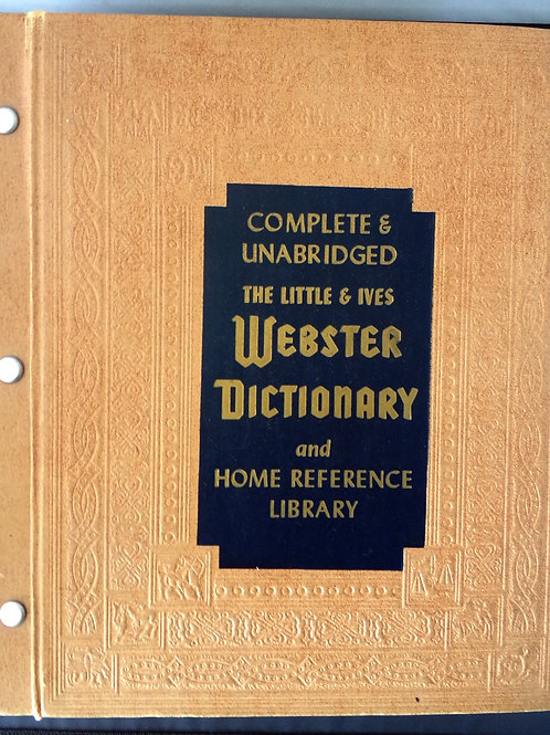 The Little & Ives Webster Dictionary