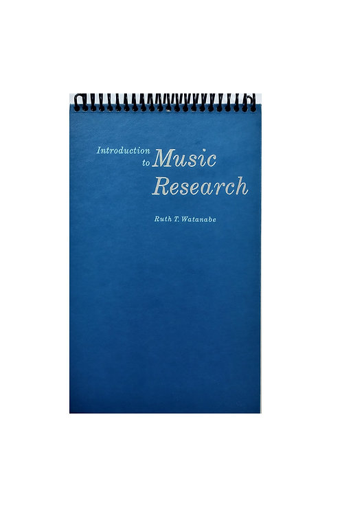 Introduction to Music Research - steno Pad Journal