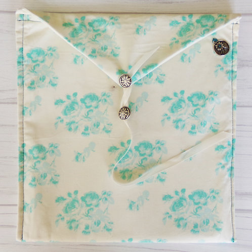 Turquoise Flowers Book Journal Sleeve