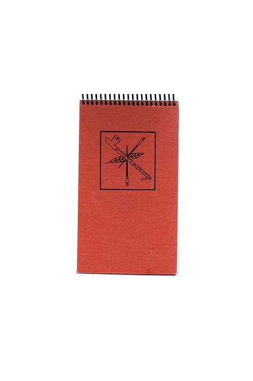 Paintbrush & Peacepipe Steno Pad Journal