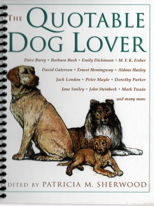 The Quotable Dog Lover Pocket Book Journal