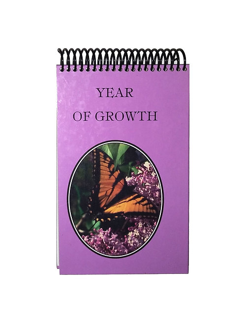 Year of Growth - Steno Pad Journal