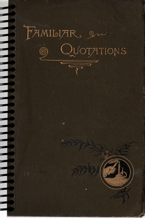 Familiar Quotations Pocket Book Journals