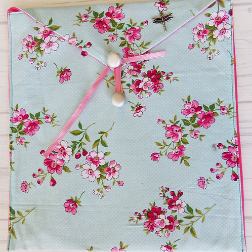 Pink Flowers Book Journal Sleeve