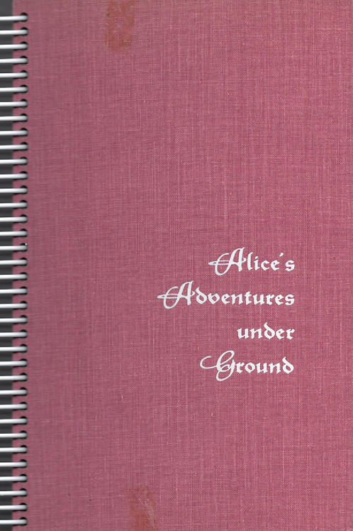 Alice's Adventures Under Ground Book Journal