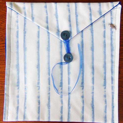 Blue Stripes Book Journal Sleeve