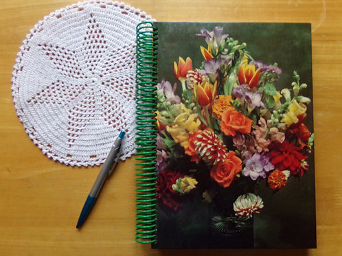 Decorating with Plants Book Journal with Doily