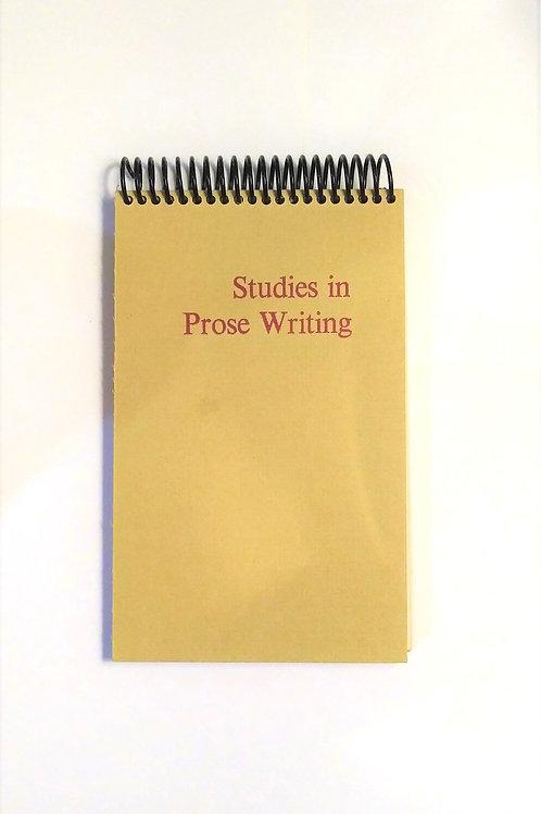 Studies In Prose Writing - Steno Pad Journal