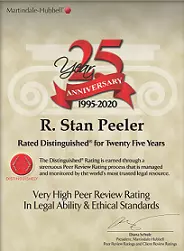 Peeler Law - 25 Years Distinguished Awar