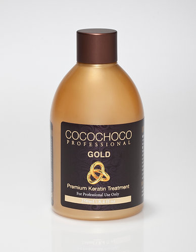 COCOCHOCO Gold Keratin Hair Treatment 8.4 fl oz - Long-lasting Glossy Finish