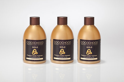 COCOCHOCO Professional Gold Keratin Treatment 25.3 fl oz- For extra shiny finish