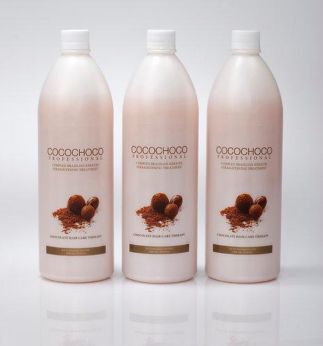 COCOCHOCO Original Brazilian Keratin hair Smoothing Restoration treatment 3 Pack