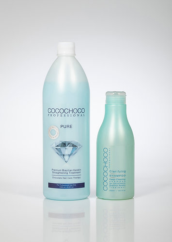 COCOCHOCO Pure Keratin Treatment 33.8 oz + Clarifying Shampoo Best value offer