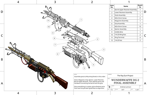 Wunderwaffe DG-2 Assembly Drawings