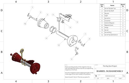 Ray Gun Assembly Drawings