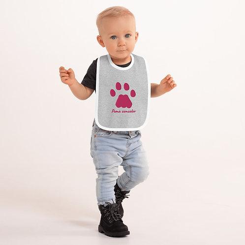 Puma concolor Embroidered Baby Bib