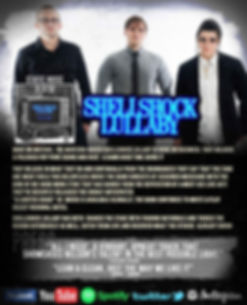 """Shellshock Lullaby short bio, band photo, album cover for """"Static Noise,"""" and Press quotes."""