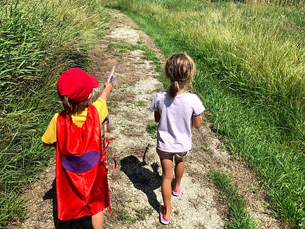 kids exploring outdoors