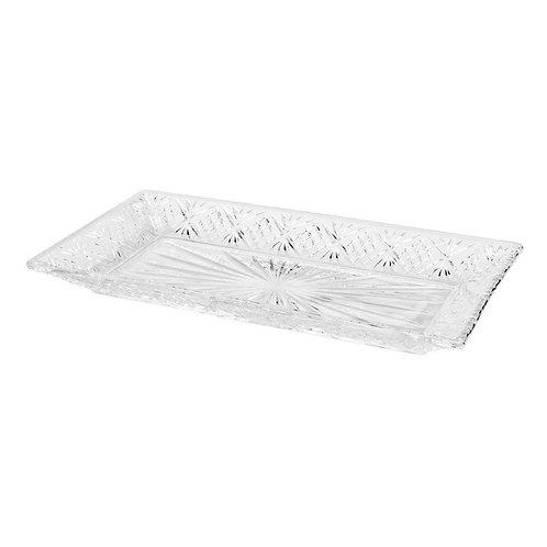 Prato para bolo em cristal retangular Lyor