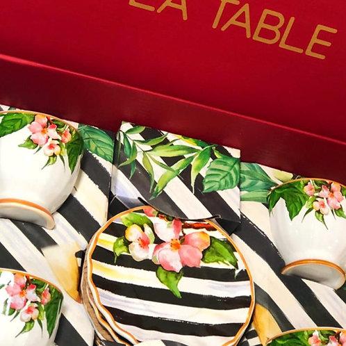 Conjunto de Chá Floral