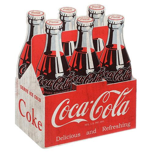 Placa de Madeira Coca Cola