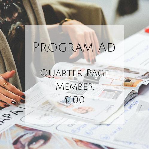 Quarter Page Program Ad - Member