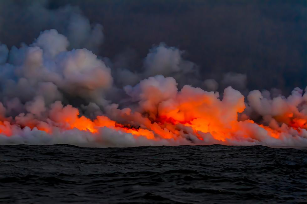 Kilauea Meet the Pacific - Scott Camphausen