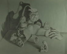 3rd Place Printmaking/Drawing - Peaceful Sleep, Marina Melluzzo