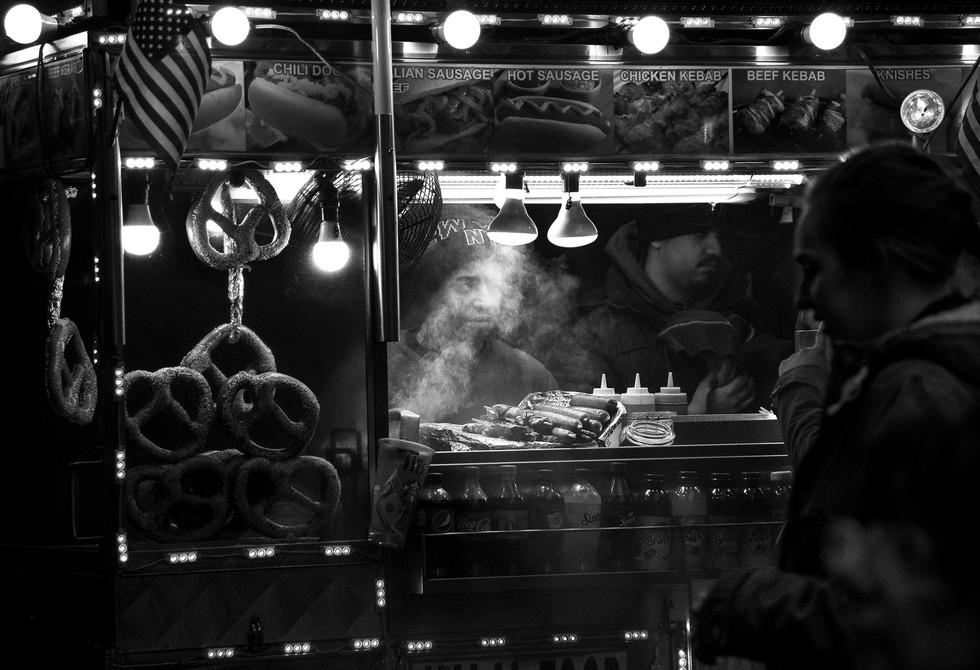Sausage Vender 42nd Street - Gene Suponski