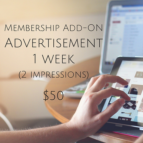 One Week Advertisement Member Add-On