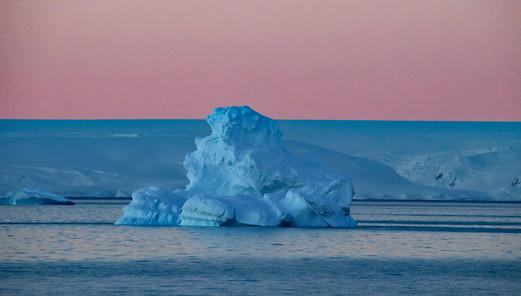 Midnight Iceberg, Antarctica - Sharon Hirsch