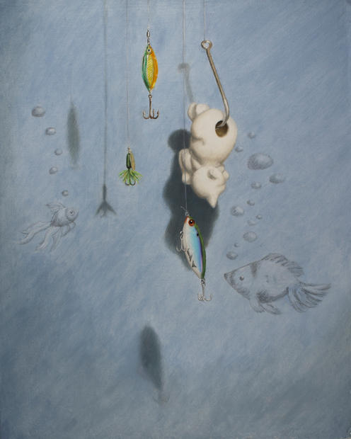 3rd Place Painting - Catfishing, Connie Pan