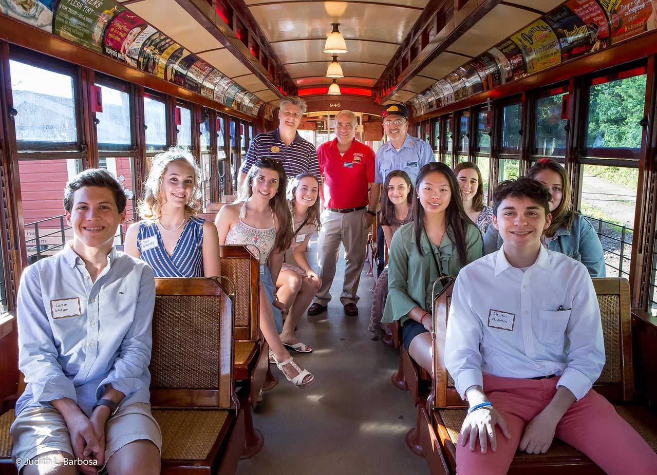 2017 Interns at the Trolley Museum