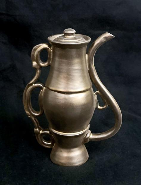 2nd Place Sculpture/Ceramics - Golden Ewer, Francette Donato