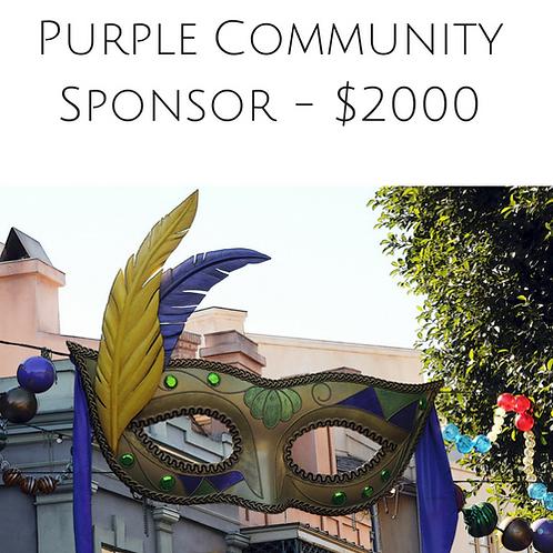 Gala Purple Community Sponsor