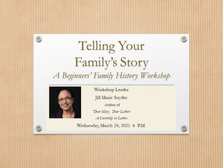 Telling Your Family's Story: A Beginner's Workshop at NHM