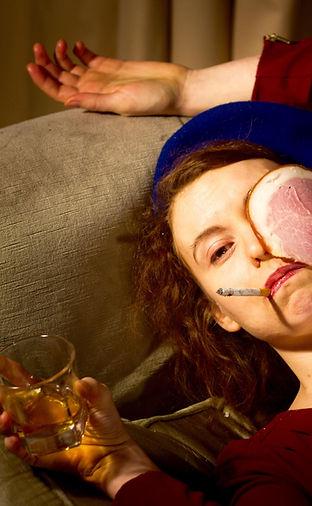 elizabeth brennan, ham on the face, global warming, cabaret, kissing booth