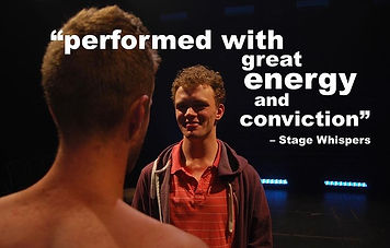 ben goss, leopard print loincloth, theatre, theatreworks, jake stewart, playwright, drama, comedy, nudity, naked, stage, midsumma