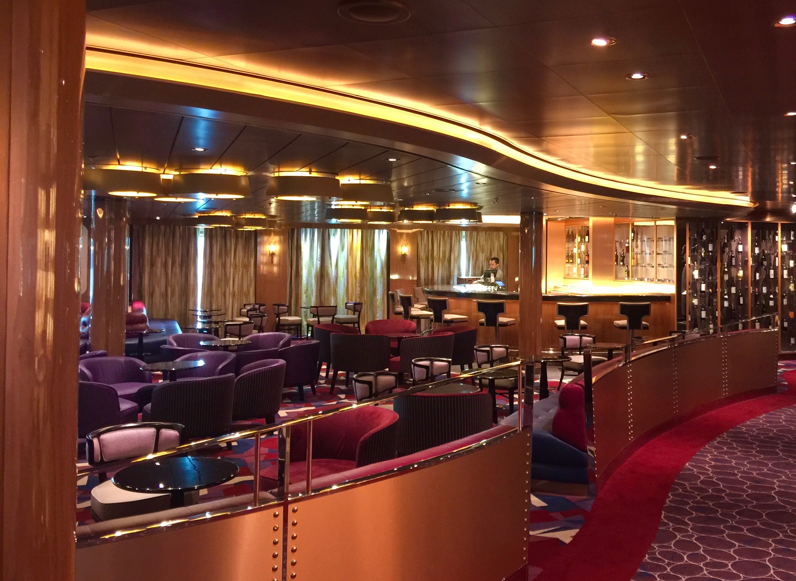 Lounge on Holland America Koningsdam
