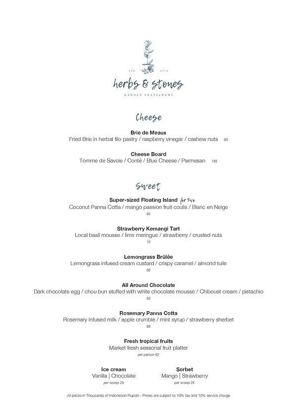 Herbs&Stones Restaurant Cheese & Dessert