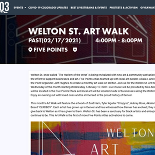 Welton St. Art Walk // Do303
