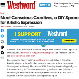 Conscious Creatives // Westword